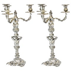 Sterling Silver Candlelabra's, by Garrard & Co. Ltd., Made in London, 1978