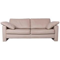 Ewald Schillig Designer Leather Sofa Brown Beige Two-Seat