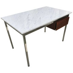 Florence Knoll Marble and Rosewood Desk, 1960