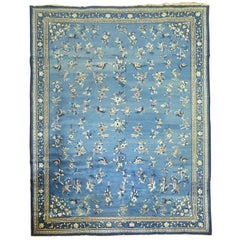 Blue Antique Shabby Chic Chinese Rug