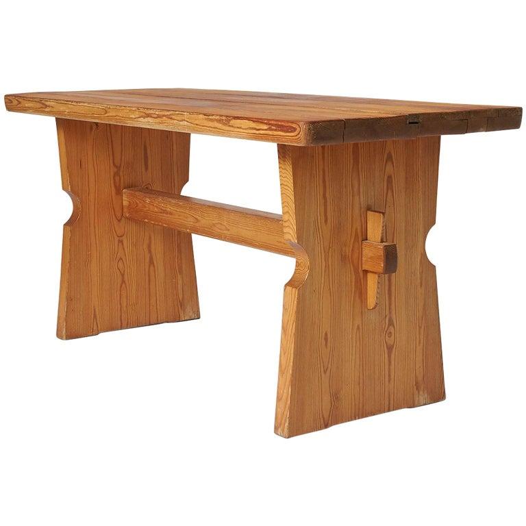 "Pine ""Lovo"" Table by Axel Einar Hjorth for Nordiska Kompaniet"