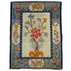 Tibetan Floral Throw Rug