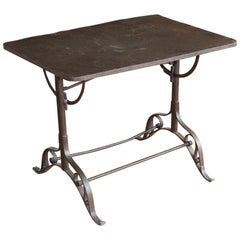 Art Nouveau French Metal Drop Sided Table
