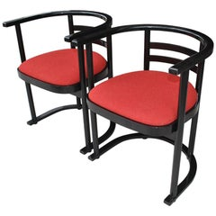 Pair of Vintage Thonet Josef Hoffmann Style Bauhaus Chairs