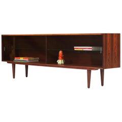 Danish Modern Low-Profile Rosewood Bookcase