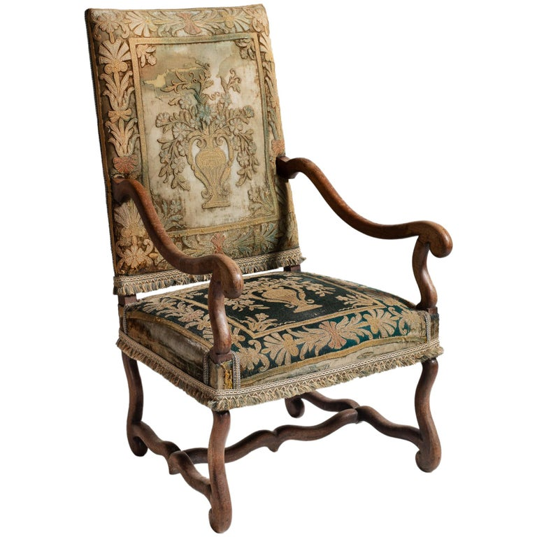Os de Mouton Tapestry Chair, circa 1870 For Sale