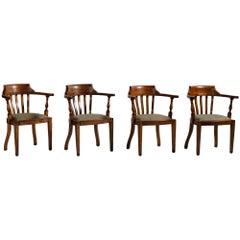Edwardian Oak Captains Chair, circa 1900