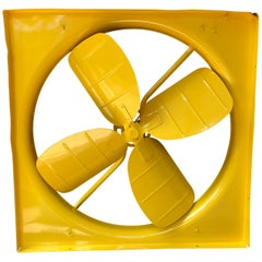Large Sunshine Yellow Powder-Coated Industrial Fan
