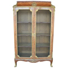 French 19th Century Doré Bronze Bookcase