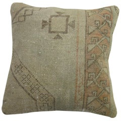 Shabby Chic Vintage Oushak Rug Pillow