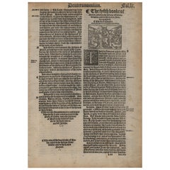 """Deuteronomy, Complete Book from the 1540 """"Great Bible"""" 13 Leaves in Set"""