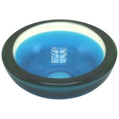 Blue and Green Murano Glass Bowl, circa 1960