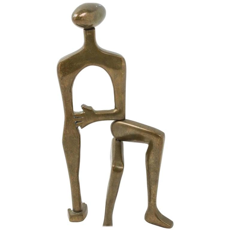 Midcentury Brass Sculpture Arleen Eichengreen and Nancy Gensburg For Sale