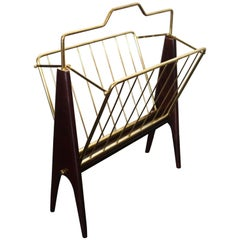 Folding Magazine Rack by Cesare Lacca, Italy, 1950s