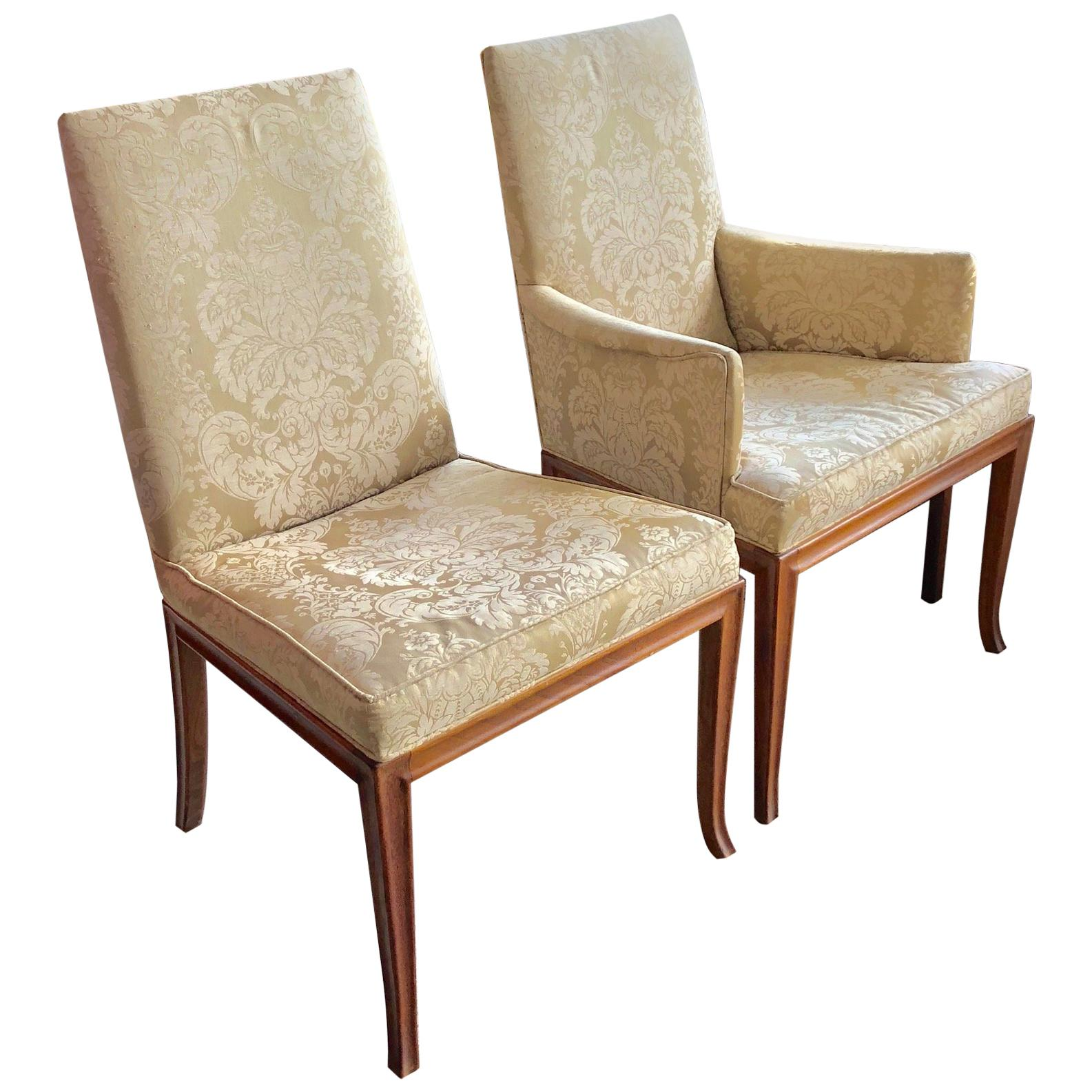 Charmant Two T.H.Robsjohn Gibbings For Baker Chairs, Circa 1961 For Sale