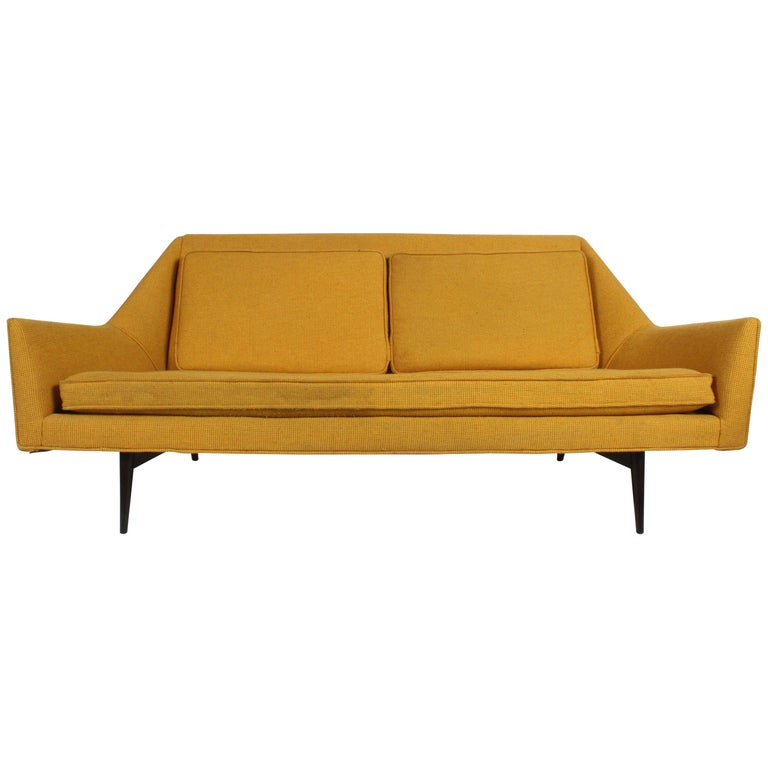 Rare Paul McCobb Cubist Sofa or Settee