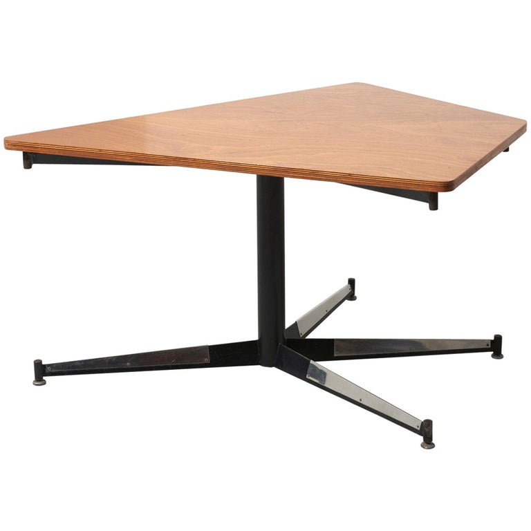 Walnut HBK table by Willy Van Der Meeren For Sale