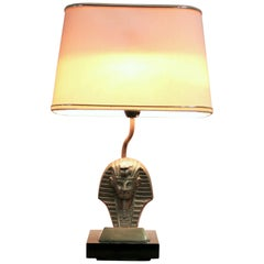Hollywood Regency Pharaoh Table Lamp Belgium, 1970s
