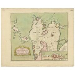 Antique Map of the Bahia Todos Santos 'Brazil' by Tirion, circa 1750
