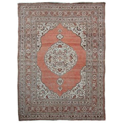 Antique Tabriz Rug, Slightly Distressed