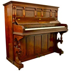 John Brinsmead Piano in German Walnut Case with Hand-Turned Features