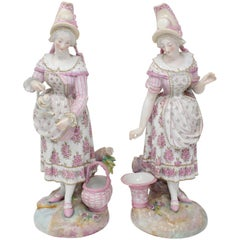 Pair of 19th Century Paris Porcelain