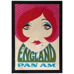Pan Am Travel Poster, circa 1970s