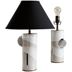 Sherald Lamp, Ceramic Sculptural Table Lamp by Dumais Made