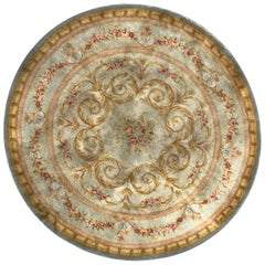 Antique French Savonnerie Round Rug Aubusson Rugs Carpets