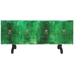 Aldo Tura Emerald Goatskin Sideboard