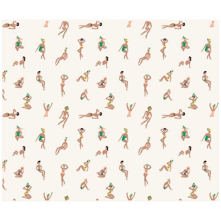 At the Cabana Wallpaper by Danielle Kroll x Greenpoint Hill