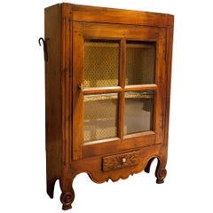 Provincial French Fruitwood Hanging or Standing Cabinet