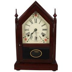 Antique Seth Thomas Mahogany Steeple Mantel Clock, 20th Century