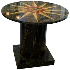 Faux Marble Round Center Table