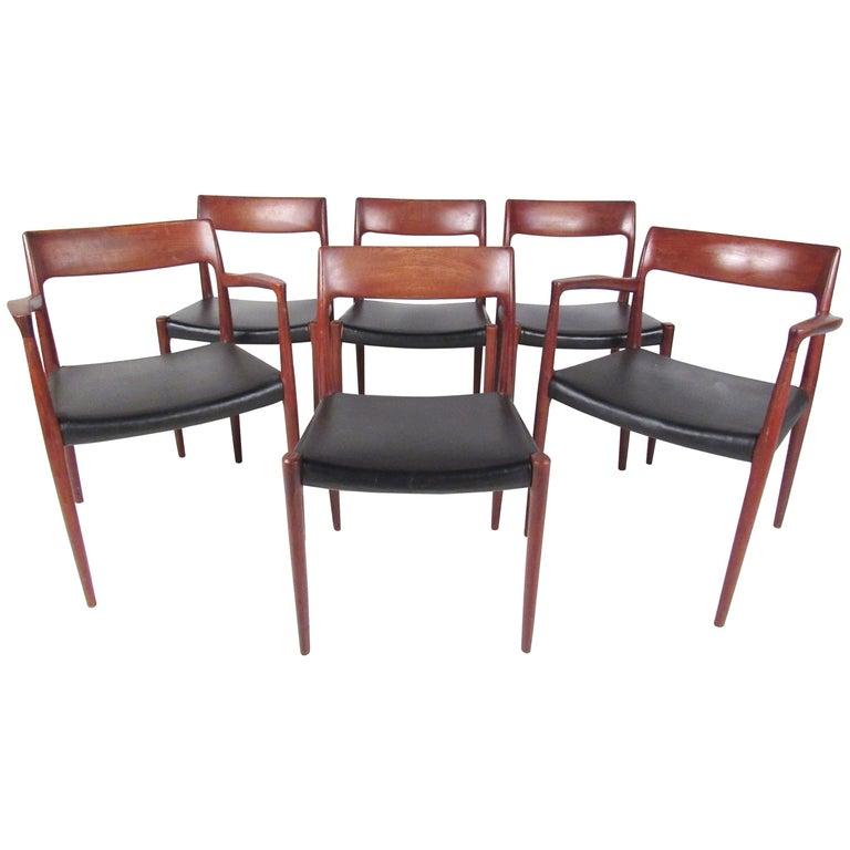 Set of Niels Møller Model #77 Dining Chairs for J.L. Møller