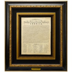1820 Eleazar Huntington Engraved Declaration of Independence Printed Broadside