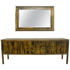 Buffet or Credenza and Wall Mirror