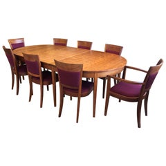 Thomas Moser Dining Table and Eight Harpswell Dining Chairs