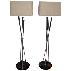 Pair of Golf Club Floor Lamps