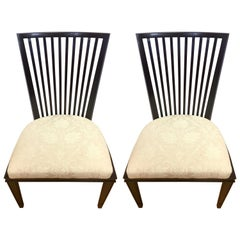 Barbara Barry Collection for Baker Furniture Pair of Dining Room Chairs
