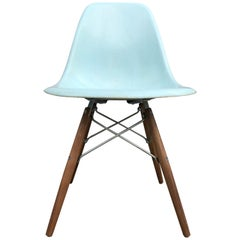 Four Rare Herman Miller Eames Dining Chairs in Robin's Egg Blue
