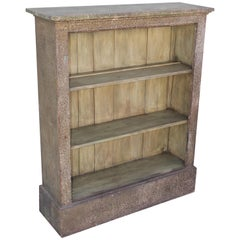 19thc Original Painted Book Shelf or Sage Green