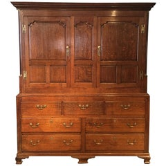 Wardrobe, Hall Cupboard 18th Century Oak