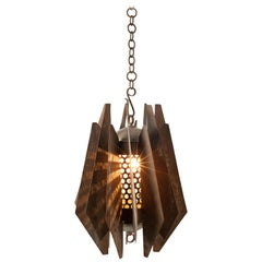 Brutalist Pendant in Solid Copper, circa 1960s, Sourced in South Africa