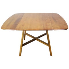 Midcentury 1960s Ercol Elm and Beech Old Colonial 377 Drop-Leaf Dining Table