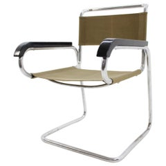 Chrome Bauhaus Chair, Jindřich Halabala H-80
