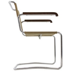 Chrome Bauhaus Chair, Jindřich Halabala H-164