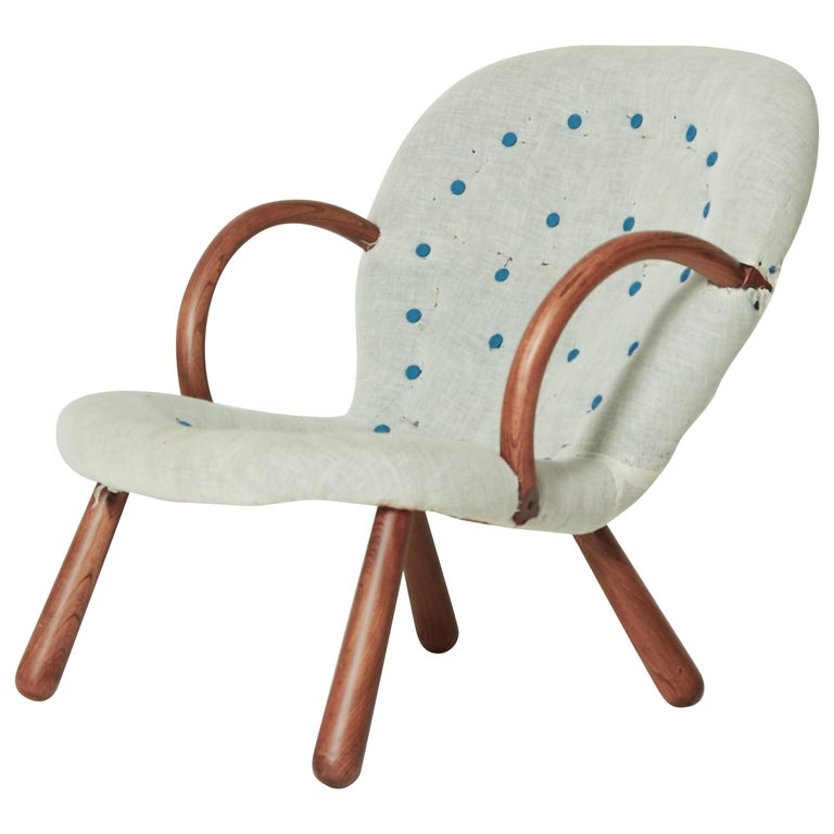 1940s Philip Arctander Clam Chair with Complimentary Re-Upholstery