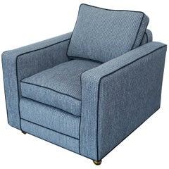 Pair of Bernhardt Tuxedo Lounge Chairs