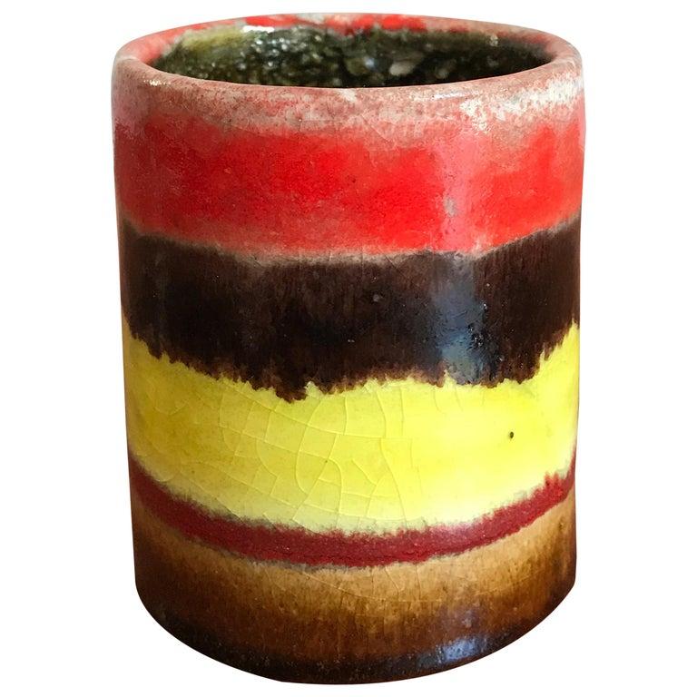 1960s Bruno Gambone Italian Ceramic Vase